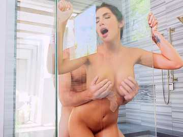 August Ames gets banged in the shower by Sean, making her a cheating wife