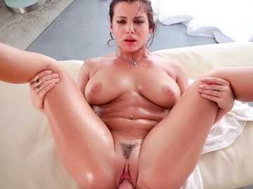 Big all natural female with dark hair Keisha Grey is buffed by huge chap doggy style