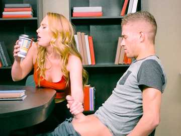 Carter Cruise has an affair with Xander Corvus prick under the table